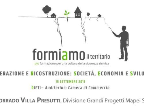 Formiamo il territorio Rieti – 15 settembre 2017