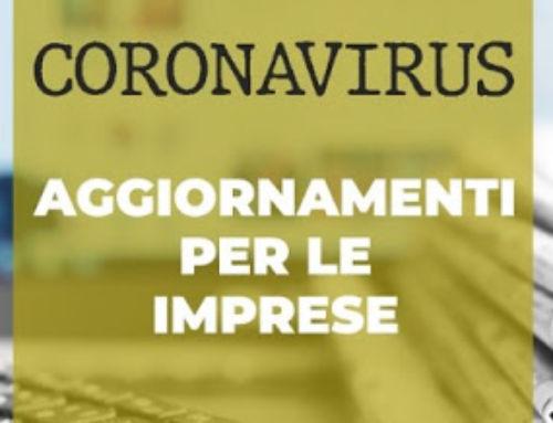 CORONAVIRUS: IN VISTA RIAPERTURA AUTORIZZATE ATTIVITA' SOSPESE PER INTERVENTI RIAPERTURA
