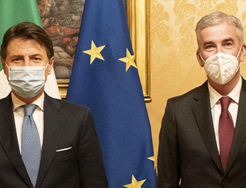 GOVERNO – Il Presidente Granelli e il Segretario Generale Mamoli a confronto con il Presidente del Consiglio Conte