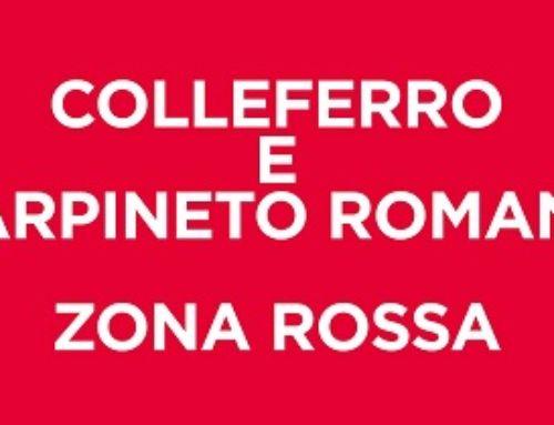 COVID19: ZINGARETTI FIRMA ORDINANZA ZONA ROSSA COLLEFERRO E CARPINETO ROMANO