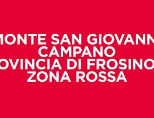 COVID-19 : ZINGARETTI FIRMA ORDINANZA ZONA ROSSA MONTE SAN GIOVANNI CAMPANO