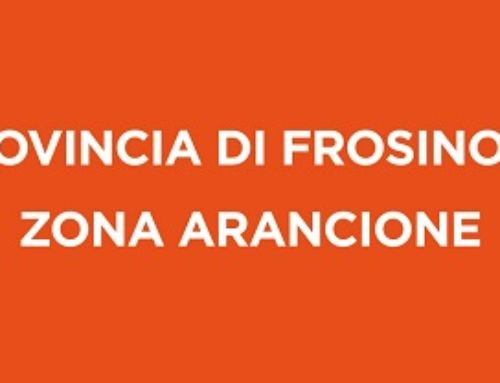 COVID-19 : DA OGGI 1 MARZO LA PROVINCIA DI FROSINONE IN ZONA ARANCIONE